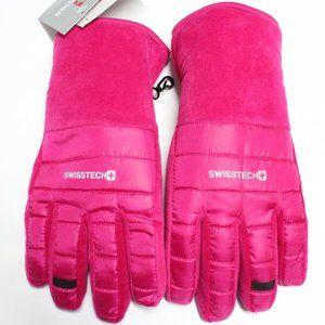 SwissTech Girl's Pink 3M Thinsulate Fleece Gloves